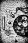Set of old seamstress for needlework — ストック写真