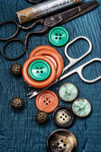 Buttons and sewing tool — Photo