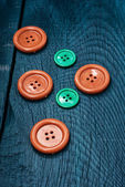 Buttons and sewing tool — Stock fotografie
