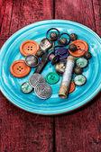 Accessori per cucire — Foto Stock
