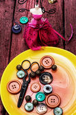 Sewing accessories — Stok fotoğraf