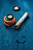 Threads and buttons — Foto Stock