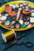 Tools for sewing — Stock Photo
