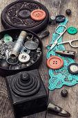 Dikiş için araçlar — Stok fotoğraf