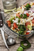 Salad from fresh cabbage — Stock Photo