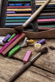 Tintas de cor no velho estilo — Fotografia Stock