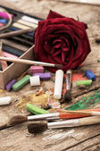 Peintures de couleur dans le style ancien — Photo