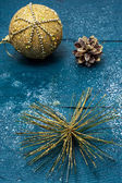 Christmas compositions and objects in vintage style — Stockfoto