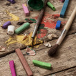 Color paints, crayons and pencils — Stock Photo #51143137