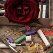 Color paints, crayons and pencils — Stock Photo #51143139
