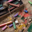 Color paints, crayons and pencils — Stock Photo #51143141