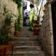 Stock Photo: Stairs in Hvar, Croatia