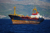 Rusty cargo ship — Stock Photo