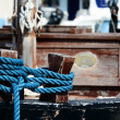 Rope on boat from 1894 — Stock Photo