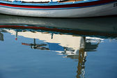 Boat reflection — Stock Photo