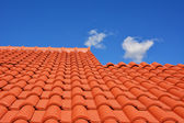 Red roof texture tile — Stock Photo