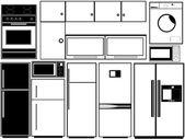 кухня электроника — Cтоковый вектор