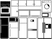 Keuken elektronica — Stockvector