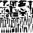 Tools illustration - Stok Vektör