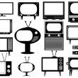Stock Vector: Set of tv illustration