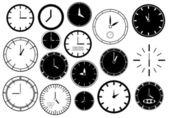 Set of clocks illustration — Stock Vector