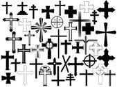 Cross set — Stock Vector