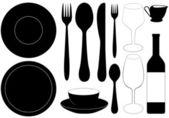 Restaurant dishes — Stock Vector
