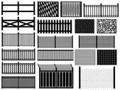 Black fences — Stock Vector