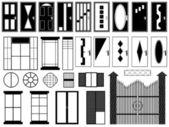 Doors and windows illustration — Stock Vector