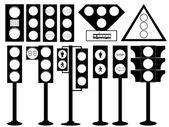 Traffic lights illustration — Stock Vector