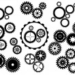 Vector de stock : Gear wheels