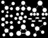 Vit ämnen diagram — Stockvektor