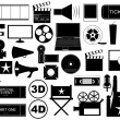 Stock Vector: Movie elements