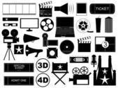 Movie elements — Stock Vector
