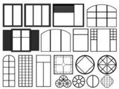 Illustrazione di finestre bianche — Vettoriale Stock