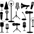 Stock Vector: Microphone collection