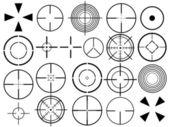 Crosshair set — Stock Vector