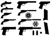 Pistoler set — Stockvektor