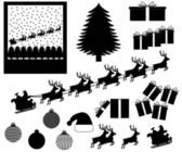 Christmas items and events — Stock Vector