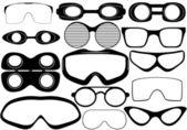 Koruyucu gözlük — Stok Vektör