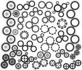 Mecanismo de rodas da engrenagem — Vetor de Stock
