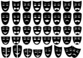 Set of masks — Stock Vector