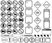 Warning and forbidden signs — Stock Vector