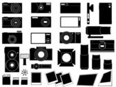 Photo cameras and stuff for photography — Stock Vector