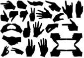 Hände — Stockvektor