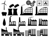Industry buildings on white — Stock Vector