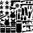 Stock Vector: Police tools