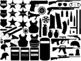 Police tools — Stock Vector