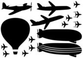 Fly vehicles — Stock Vector