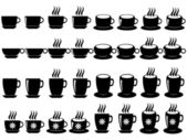 Coffee and tea cups — Stock Vector